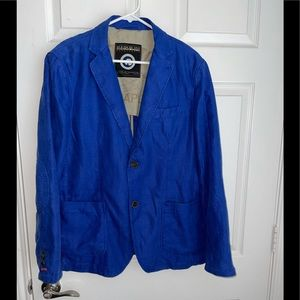 Napapijri flax linen/cotton blazer sports coat